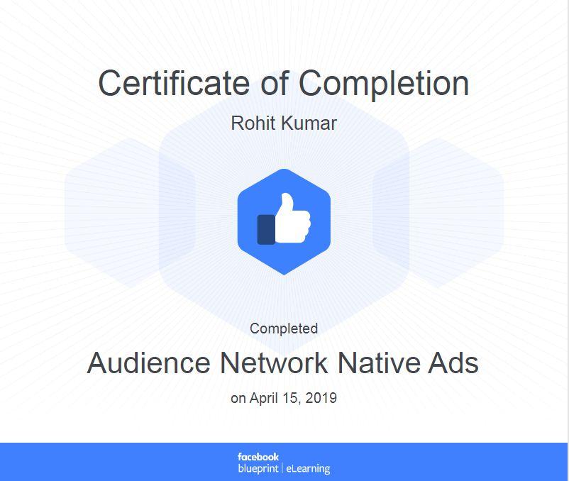 facebook blue print certificate