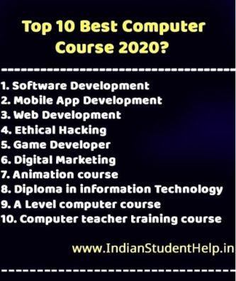 सबसे अच्छा कम्प्युटर कोर्स   Top 10 best computer course in hindi 2020